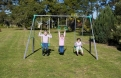 SportsLife Fun 3 Unit Swing Set