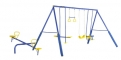 Action 4 Unit Swing Set with Seesaw and Foam
