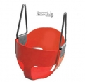 Full Bucket Playground Swing - Red