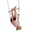 Hardwood Trapeze with Metal Gym Rings