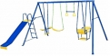 Action 4 Piece Swing Set with Blue Slide
